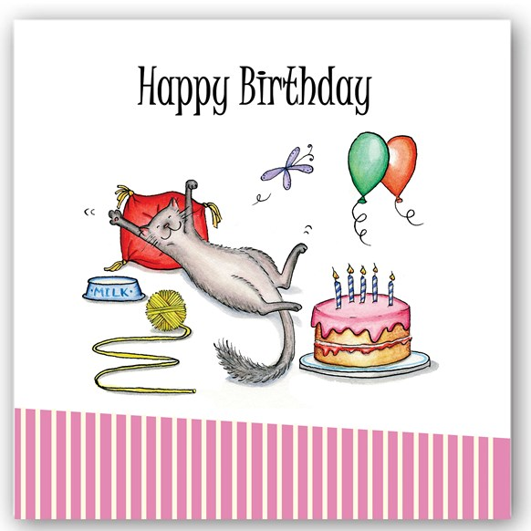 Birthday Cat Occasions Card